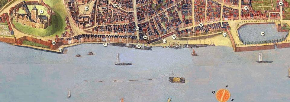 Veerpont Zeldenrust op kaart Feltman 1669