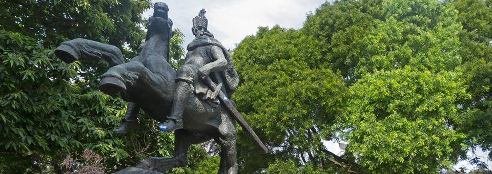 Karel de Grote, van Albert Termote Keizer Karelplein Maker: Michielverbeek CC BY-SA 4.0 zie onderaan de pagina