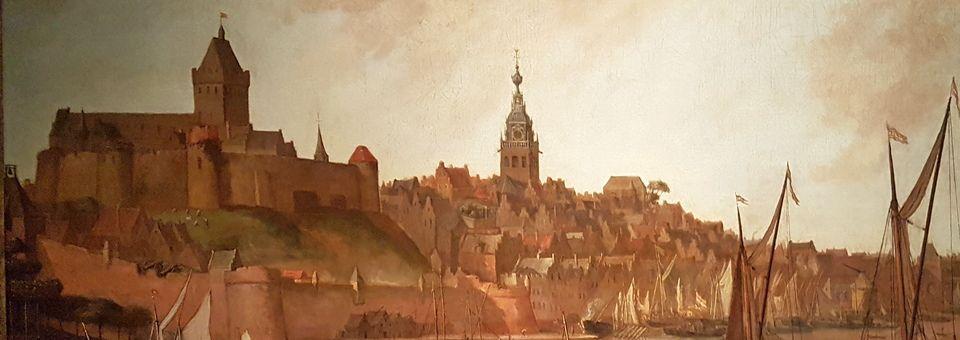 Schilderij van de skyline van Nijmegen