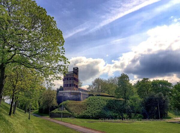 Belvedere Nijmegen vanaf het noorden gezien